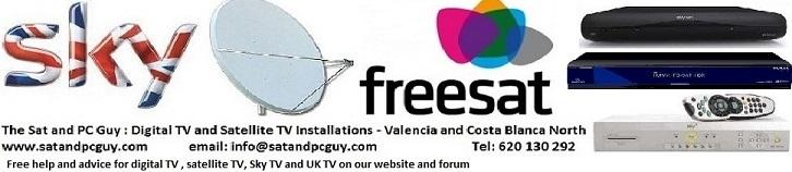 UK TV in Spain - British TV in Spain - Sky TV in Spain - Freesat in