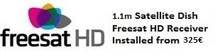 1.1m satellite dish installations for uk tv freesat HD Calpe