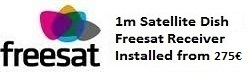1m satellite dish installations for uk tv freesat in Javea