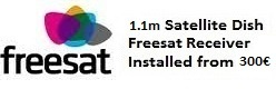 1.1m satellite dish installations for uk tv freesat Javea
