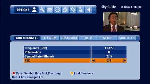 Sky+ HD EPG