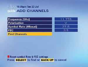 Extra Channels on Sky Boxes