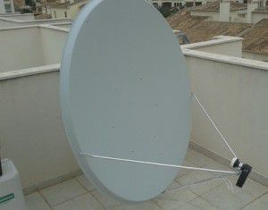 Sky TV in Spain 125x135cm 1.4m offset satellite dish