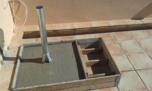 concrete base satellite installations