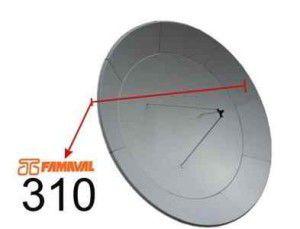 3.1m Prime Focus Satellite Dish