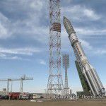 Astra 2E Satellite Picture Roll Out to Launch Pad