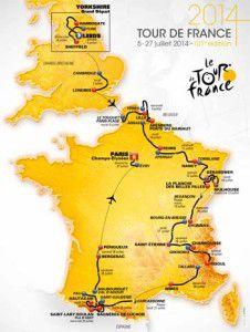 2014 Tour de France route map