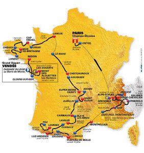 2011 Tour de France route