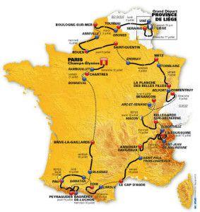 2012 Tour de France route