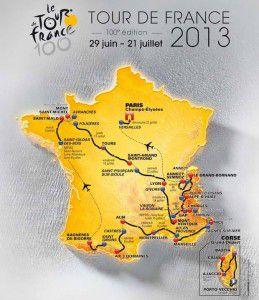 2013 Tour de France route