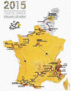 2015 Tour de France route map