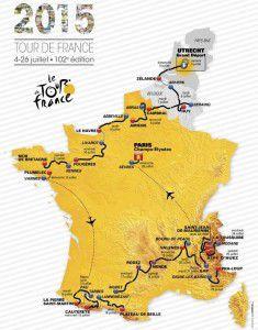 2015 Tour de France route map