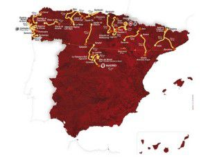 The 2012 La Vuelta Espana route
