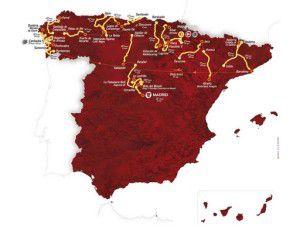 La Vuelta Espana 2012 route map