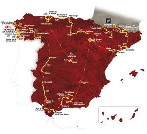 The 2013 La Vuelta Espana route