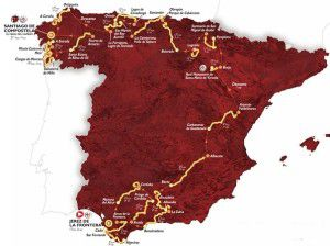 The 2014 La Vuelta Espana route