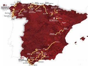 The 2014 La Vuelta Espana route