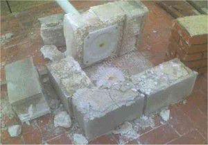 failed concrete base satellite installations