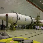 Astra 2G Proton Rocket Assembly.
