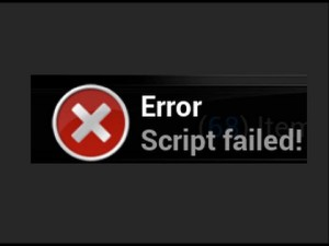 kodi script error message