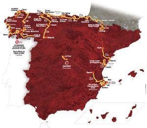 La Vuelta Espana 2016 route map