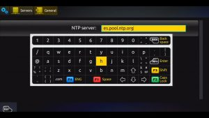 MAG 254 IPTV NTP Server Screen