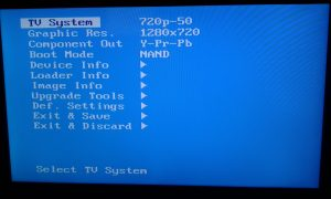 mag 254 iptv set top box bios screen