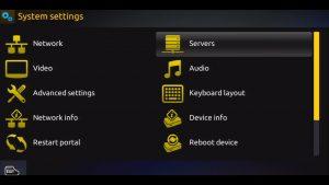 IPTV Portal Server settings on a MAG IPTV Set Top Box