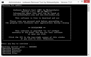Malwarebytes Junkware Removal Tool, adware free scanner