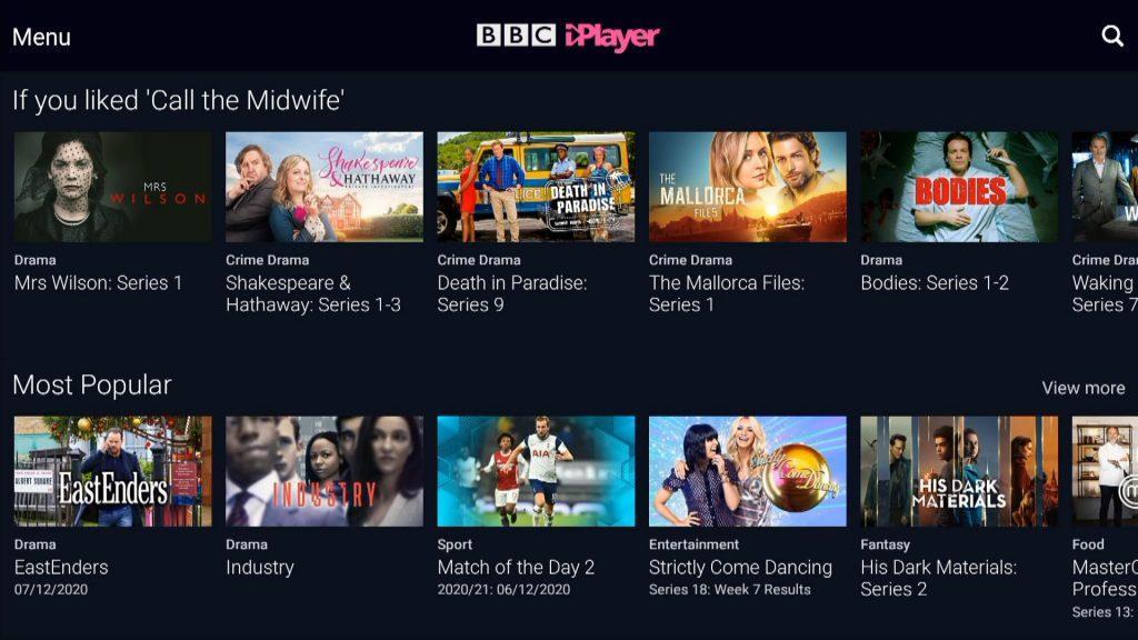 BBC iPlayer App Firestick Spain Europe